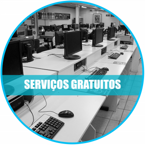 Serviços gratuitos: Registro dos computadores do laboratório de informática.