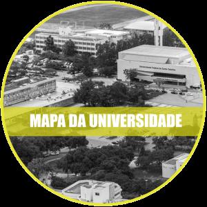 Mapa da Universidade: Registro aéreo da praça da cidadania.